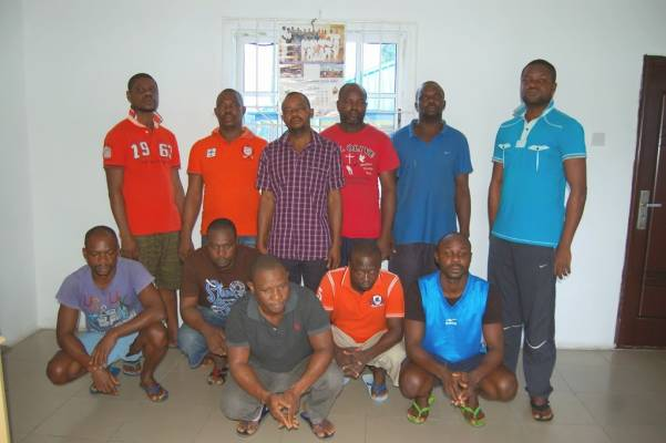EFCC arraigns eleven suspected oil thieves