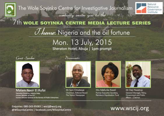 El-Rufai to speak on 'Nigeria and the oil fortune' at Wole Soyinka Centre Media Lecture July 13