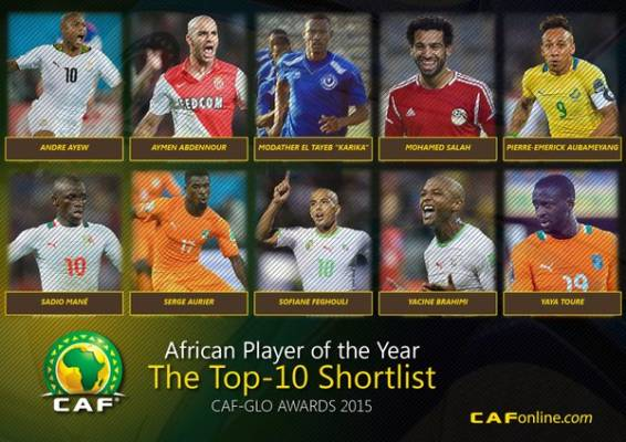 Yaya Toure in frame for fifth African Footballer of the Year award