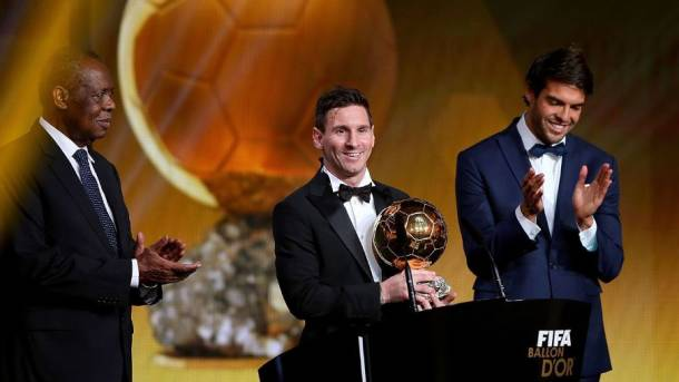 Lionel Messi wins 2015 Ballon d'Or ahead of Cristiano Ronaldo, Neymar