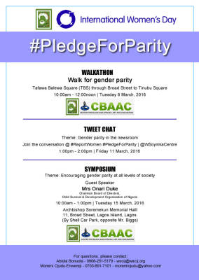 International Women's Day: Walk for gender party #PledgeForParity