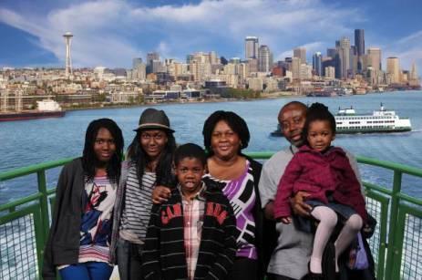 Family vacation, Seattle, Washington State, USA, 2012