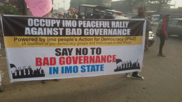 A call for mass peaceful protests to defend democracy, civil rights and the rule of law in Imo State