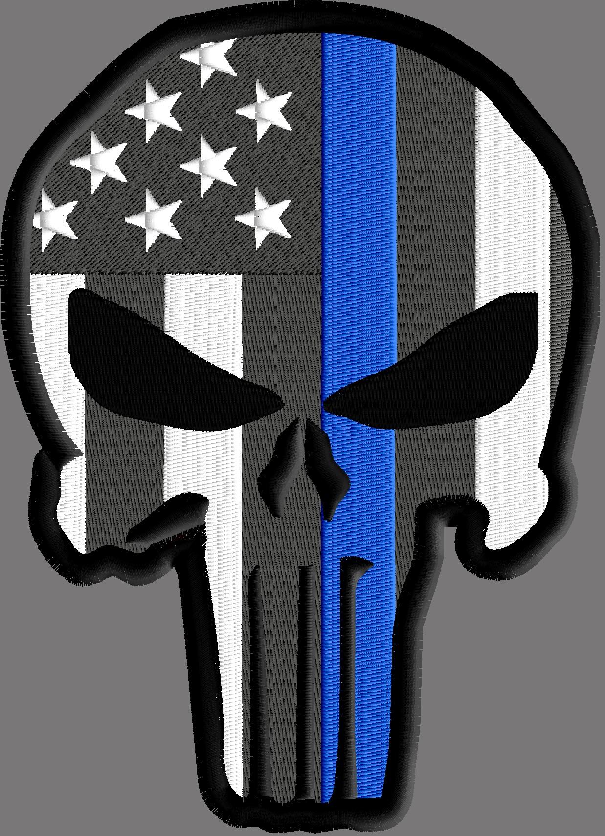 Punisher Police Solidarity Design 3 Sizes Machine
