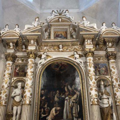 Cappella degli Stucchi con il Battesimo di Costantino di Ciarpi