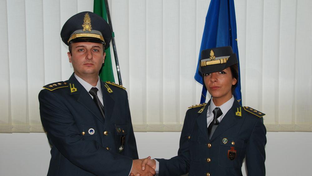 Il capitano Angela Luana Vallario  il nuovo comandante della finanza