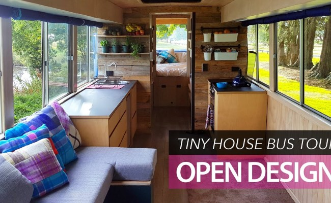School Bus Conversion Small Home Tour Off Grid Family