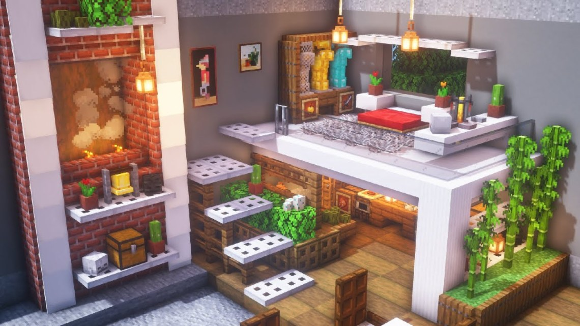 Minecraft: How to Build a Modern Room | Simple Interior ...