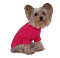 Designer Pet Clothes, Fuchsia Turtleneck Dog Sweater ...