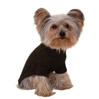 Designer Pet Clothes, Olive Green Turtleneck Dog Sweater