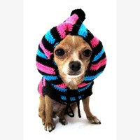 Cute Dog Hoodie Cotton Unisex Pet Clothing Stripes Black