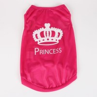 Commoditier Crown Prince Summer Dog T-shirt Small Dog Clothes