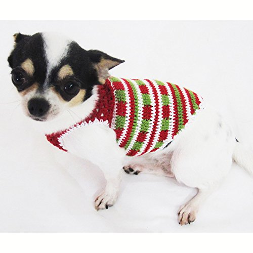 Casual Dog Clothes Cotton Crochet Pet Clothing Handmade