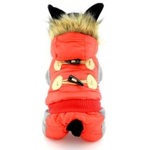 PETCONDO Small Pet Clothes for Dogs Cats Fleece Lined Horn ...