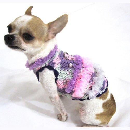 Myknitt Fashion Dog Dresses Cat Pet Boutique Chihuahua Clothes