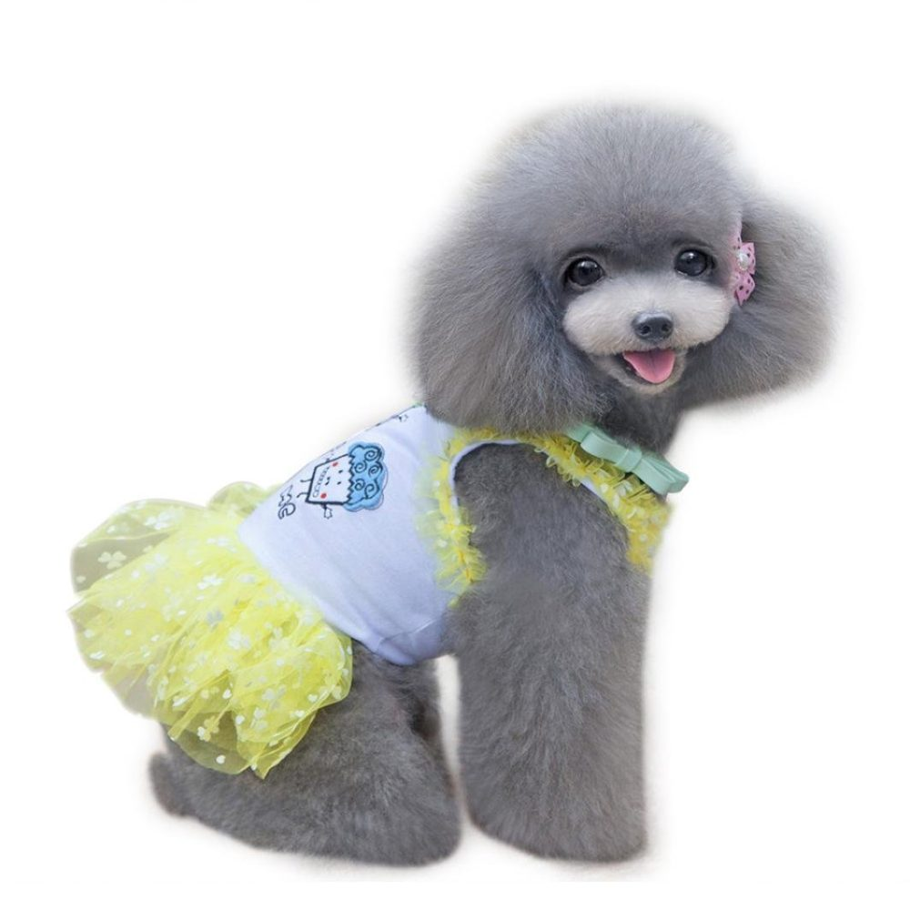 Binmer(TM)Doggy Pet Dog Clothes Party Summer Dress Brace Skirt