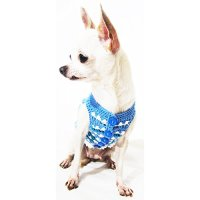 Blue Dog Clothes Handmade Crochet Unique Pet Clothing