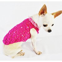 Pink Dog Clothes Fancy Pet Apparel Crystal Fashion Designer