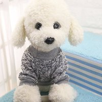 Dog Classic Sweaters, Pet Puppy Warm Clothes, Winter Soft ...