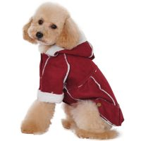Albabara British Style Cozy Dog Winter Coat Pet Hooded Clothes