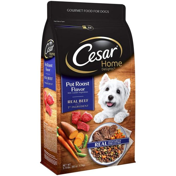 Cesar Small Breed Dry Dog Food Home Delights Pot Roast Flavor