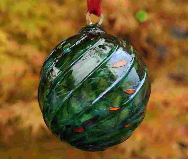 This Year Features  Colors Of Hand Blown Glass Giving Every Ornament A Unique One Of A Kind Appearance Each Ornament Will Come With A Ribbon