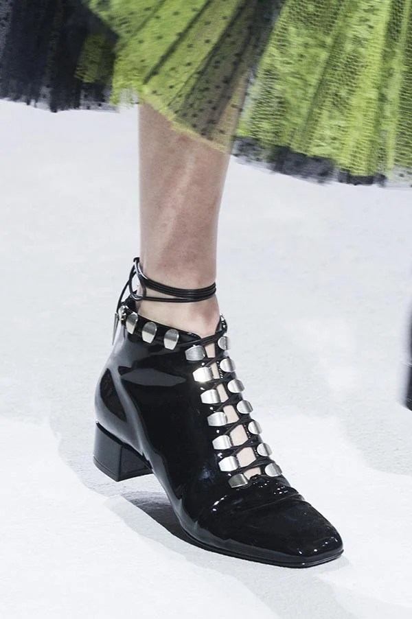 Dior shoes spring 2018 are about fishnet. comfortable and young
