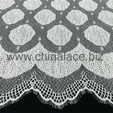 What are the different types of lace styles that are used in fashion and home décor?