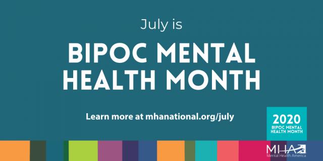 Mental Health America Shares BIPOC Mental Health month Toolkit