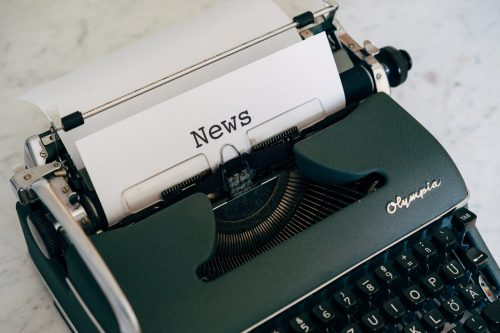 Typewriter with News