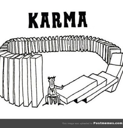 karma meme photo