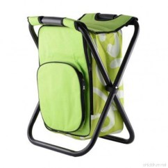 Fishing Cooler Chair Fiddle Back Wind Goal Foldable Backpack Stool With Bag Portable Camping For
