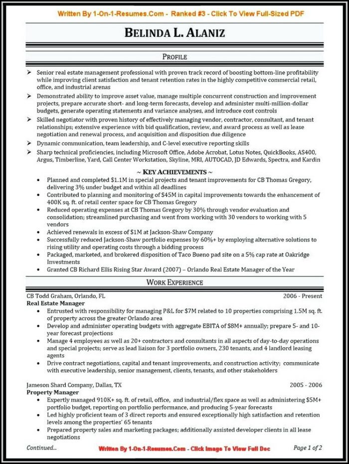 queensland government resume examples