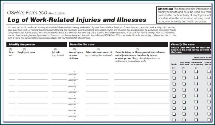 Exposure Incident Report Form Osha Form Resume
