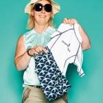 Kirsten Bille,  von Bille Fashiontrading, mit UV-Schutz-Bekleidung von Snapper Rock
