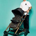 """Marcel Tripodi, Sales Manager von Seed Stroller, mit Kinderwagen """"Papilio"""""""