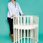 Anita Trtinjak von Noona mit umbaubarem Babybettchen