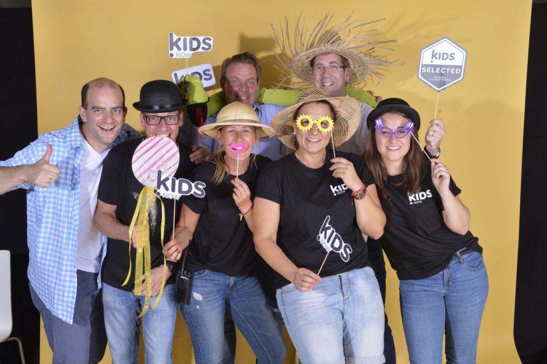 """(Fast) das ganze Team, das das Foto-Shooting """"Kids Selected"""" im Sommer 2016 auf der Kids Now organisiert hat."""