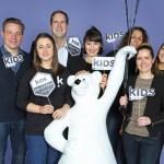 Das Team der Kids Now mit Jens Frey, Teresa Scholl, Axel Fehse, Melina Johannsen (Stylistin), Marcella Garufo Theresa Mertz und Maren Diedrichs (vl.n.r.)