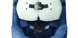Der Maxi-Cosi AxissFix mit weltweit einmaligen Airbag-System - hier in der Ausführung Nomad Blue - Verkaufssstart im Oktober 2017