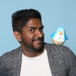 Ganesh Sugumar von Hape international AG. Im Web unter: www.hapetoys.eu – auf der Kind + Jugend 2017 beim Childhood-Business-Shooting 'My Favourite Item'