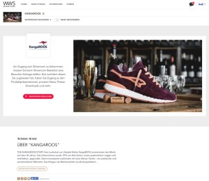 Kangaroos ist ab November 2018 auch auf We Want Shoes vertreten
