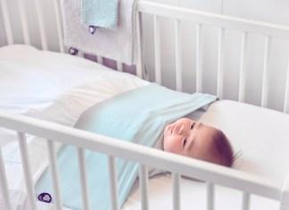 Nie mehr schlaflose Nächte: Das Laken Nunki schützt und hat das Baby sicher, warm und eingekuschelt.