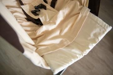 Die Matratze liefert Komfort und Platz.