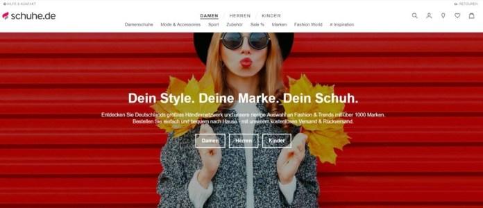 Frischer Look: Die Website Schuhe.de wurde rundum erneuert.