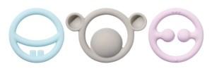 Die drei Ringe sind als Set in Primär- sowie Pastellfarben erhältlich.