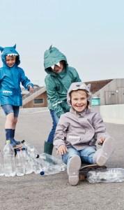 Recycling statt Neuware: Die Marke Color Kids setzt auf PET-Flaschen in der Outdoorbekleidung.