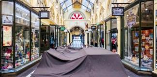 Die eigentlich sehr populäre Royal Arcade in Melbourne während des Lockdowns durch den Coronavirus Ende August 2020.