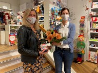 Elke Schmid von HappyBaby Ansorge und Karoline Gumpert von der EK