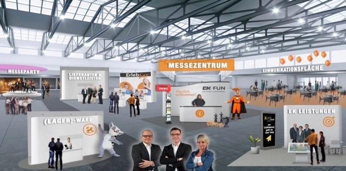 Digitale Messeplattform der EK Fun im April 2021